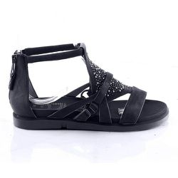 Sandales cuir talon plat - MJUS - Modalova
