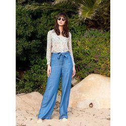 Pantalon ample en lyocell denim - SOI PARIS - Modalova