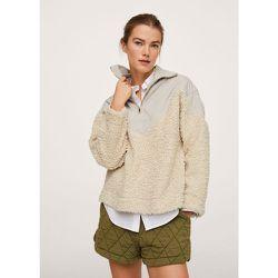 Sweat-shirt combiné imitation mouton - Mango - Modalova