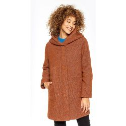 Manteau en laine tweed à capuche BERNING - TRENCH AND COAT - Modalova