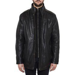 Manteau mi-long cuir d'agneau veritable - TASSA PARIS - Modalova