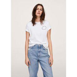 T-shirt logo en coton - Mango - Modalova