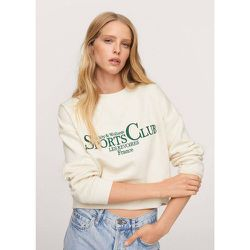 Sweater coton message - Mango - Modalova