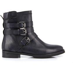 Boots cuir à boucles Adriane - LES TROPEZIENNES PAR M BELARBI - Modalova