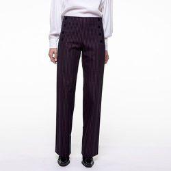 Pantalon coton à rayures SEVE - CHEMINS BLANCS - Modalova