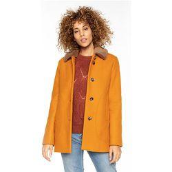 Manteau court en laine avec col amovible MONTORY - TRENCH AND COAT - Modalova