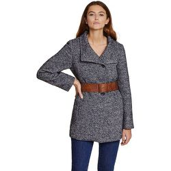 Manteau bicolore à col montant - BURTON OF LONDON - Modalova