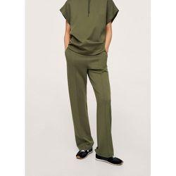 Pantalon droit taille élastique - Mango - Modalova