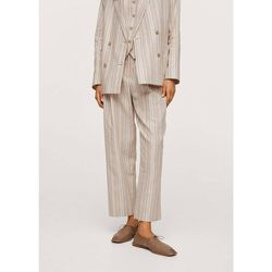 Pantalon de costume en lin - Mango - Modalova