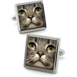 Boutons de manchette en acier rhodié CAT - ROBERT CHARLES - Modalova