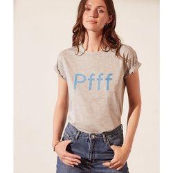 T-shirt avec perles 'pfff' HELLO - ETAM - Modalova