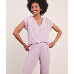 Haut de pyjama T-shirt manches courtes uni MODY - ETAM - Modalova