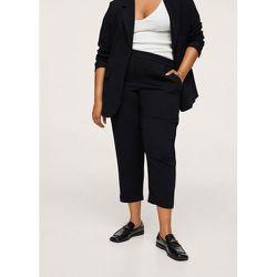 Pantalon crop taille élastique - Mango - Modalova