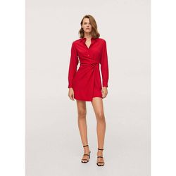 Robe chemise détails noeud - Mango - Modalova