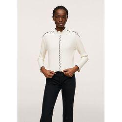 T-shirt côtelé manches longues - Mango - Modalova
