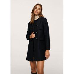 Manteau en laine à double boutonnage - Mango - Modalova