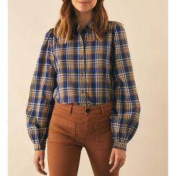 Chemise à carreaux, manches longues - LEON & HARPER - Modalova