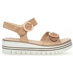 Sandales velours talon compensé - Gabor - Modalova