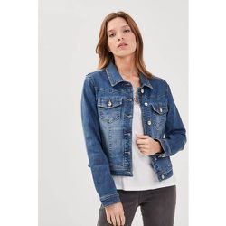 Veste droite boutonnée en jean - BREAL - Modalova