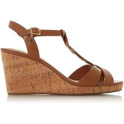 Sandales style Salomé à bride tressée et talon compensé en liège - KOALA - DUNE LONDON - Modalova