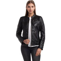 Blouson cuir véritable style biker IVETTE - CHYSTON - Modalova