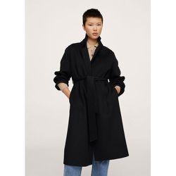 Manteau fait main avec ceinture - Mango - Modalova