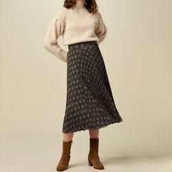 Jupe plissée imprimée mi-longue - SESSUN - Modalova