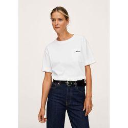 T-shirt solidaire coton - Mango - Modalova