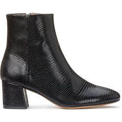Boots en cuir talon large motif croco DUNE - ANTHOLOGY PARIS - Modalova
