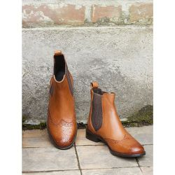 Boots chelsea cuir bout fleuri - CYRILLUS - Modalova