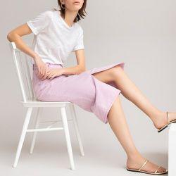 Jupe droite en coton bio longueur midi - LA REDOUTE COLLECTIONS - Modalova