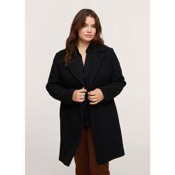 Manteau laine revers - Mango - Modalova