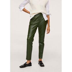 Pantalon crop cuir - Mango - Modalova