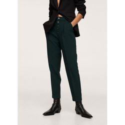 Pantalon droit boutons - Mango - Modalova