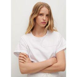 T-shirt à coutures contrastantes - Mango - Modalova