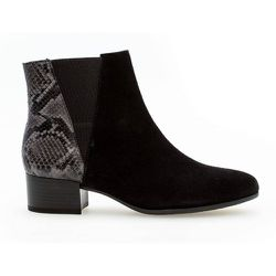 Bottines daim talon bloc couches cuir/recouvert - Gabor - Modalova
