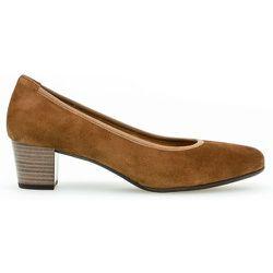 Escarpins daim talon bloc couches cuir - Gabor - Modalova