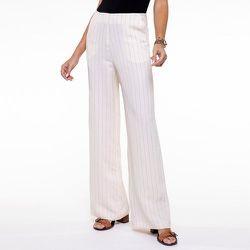 Pantalon large rayé en viscose lin - CHEMINS BLANCS - Modalova