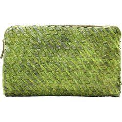 Portefeuille porte-monnaie en cuir tressé THAR - OH MY BAG - Modalova