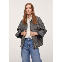 Veste carreaux poches - Mango - Modalova