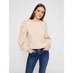 Sweat-shirt Manches bouffantes, coton - Pieces - Modalova