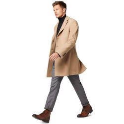 Manteau ajusté mi-long en laine et cachemire - BURTON OF LONDON - Modalova