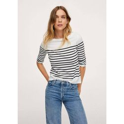 T-shirt en coton bio à rayures - Mango - Modalova