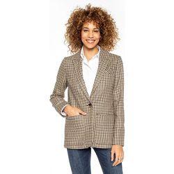 Veste droite en laine à carreaux vichy CHAUNY - TRENCH AND COAT - Modalova