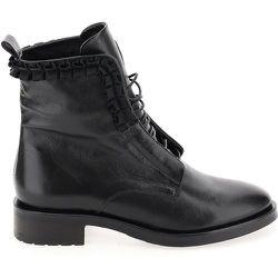 Boots à lacets cachés, cuir - MJUS - Modalova