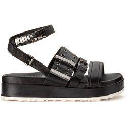Sandales cuir talon compensé - MJUS - Modalova
