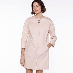Manteau piqué de coton sans col MONACO - TRENCH AND COAT - Modalova