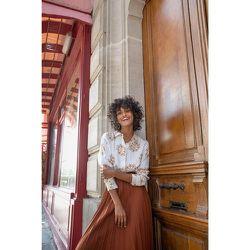 Chemisier en soie Jeux de jambes doré - SOI PARIS - Modalova