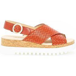 Sandales à semelles plates cuir talon compensé - Gabor - Modalova