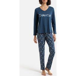 Pyjama imprimé, manches longues en coton bio - Anne weyburn - Modalova